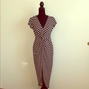 Black and white stripped dress.